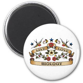 Live Love Biology 2 Inch Round Magnet