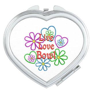 Live Love Bowl Compact Mirror