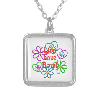 Live Love Bowl Silver Plated Necklace