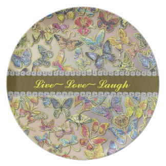 Live Love Butterfly Collector Gift Plate