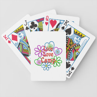 Live Love Camp Bicycle Playing Cards