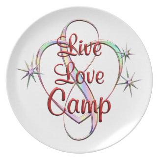 Live Love Camp Dinner Plate