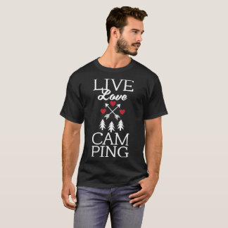 Live Love Camping Cute Glamping Camp T-Shirt