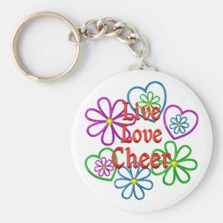 Live Love Cheer Basic Round Button Keychain