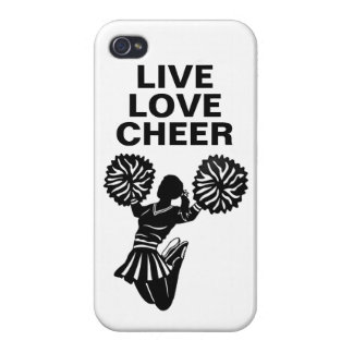 Live Love Cheer iphone 4 case customize