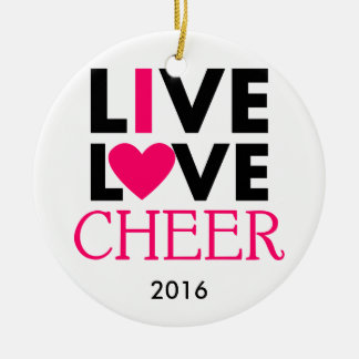Live Love Cheer Ornament