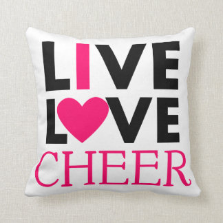 Live Love Cheer Pillow