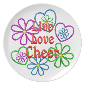 Live Love Cheer Plate