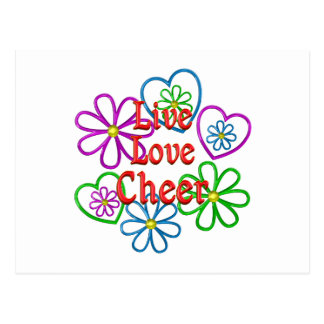 Live Love Cheer Postcard
