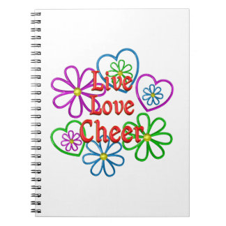 Live Love Cheer Spiral Notebook
