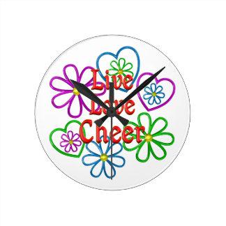 Live Love Cheer Wall Clocks