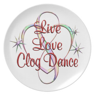Live Love Clog Dance Party Plate