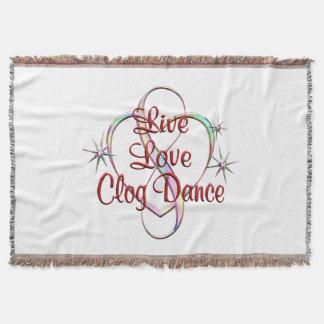 Live Love Clog Dance Throw Blanket