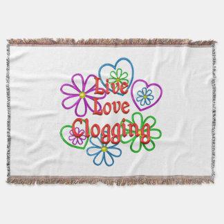 Live Love Clogging Throw