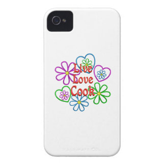 Live Love Cook iPhone 4 Case-Mate Cases