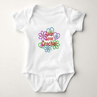Live Love Crochet Baby Bodysuit