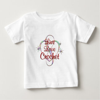 Live Love Crochet Baby T-Shirt