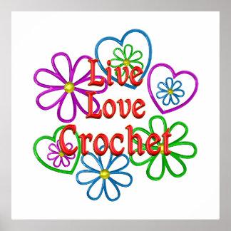 Live Love Crochet Poster