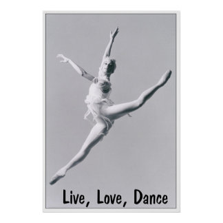 Live, Love, Dance 2 Print