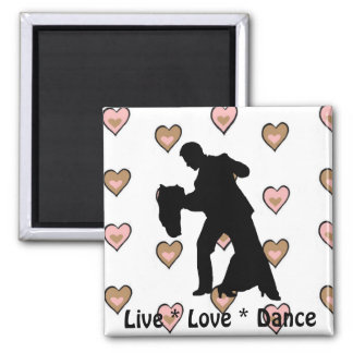 Live Love Dance - Ballroom Couple Magnet