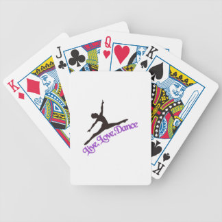 Live, Love, Dance Bicycle Playing Cards