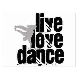 Live, Love, Dance Postcard
