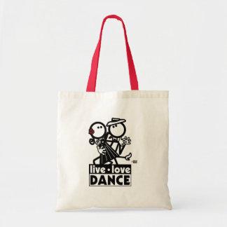 LIVE LOVE DANCE TANGO BUDGET TOTE BAG