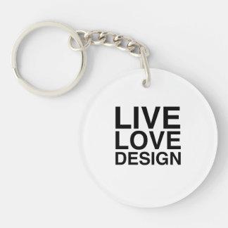 Live Love Design Keychain