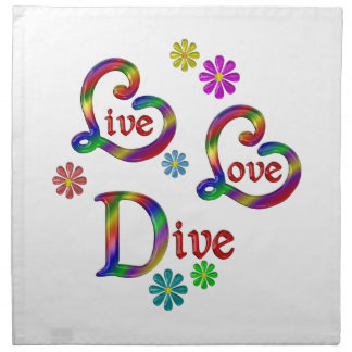 Live Love Dive Napkin