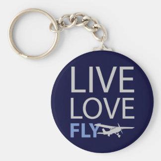 Live Love Fly Basic Round Button Keychain