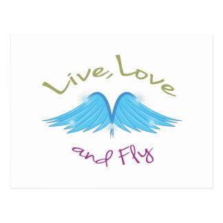 Live Love Fly Postcard