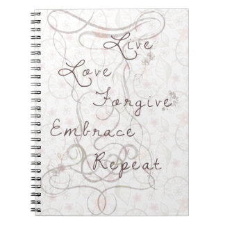 Live love forgive spiral notebook