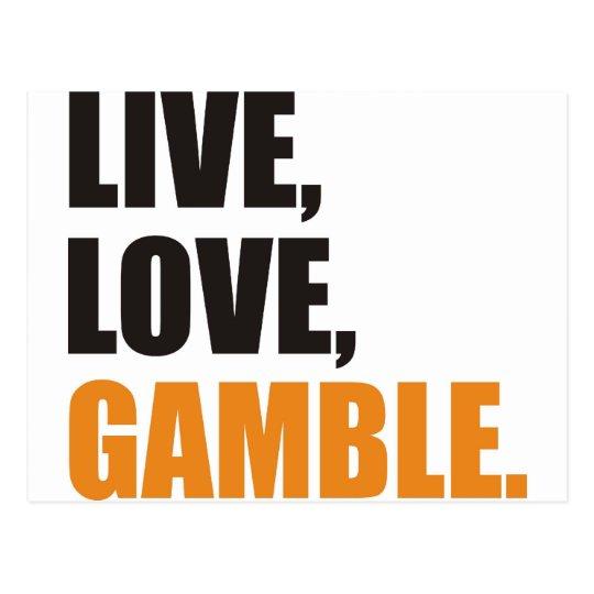 Live, Love, Gamble Postcard