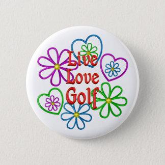 Live Love Golf 2 Inch Round Button