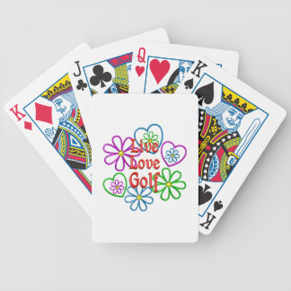Live Love Golf Bicycle Playing Cards