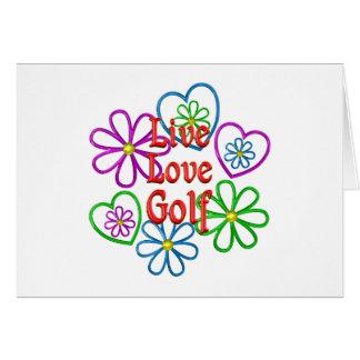 Live Love Golf Card