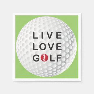 live, love golf napkins disposable napkins