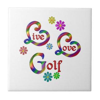 Live Love Golf Tile
