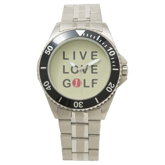 live love golf watch. wristwatches