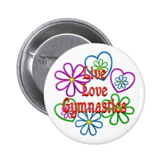 Live Love Gymnastics 2 Inch Round Button