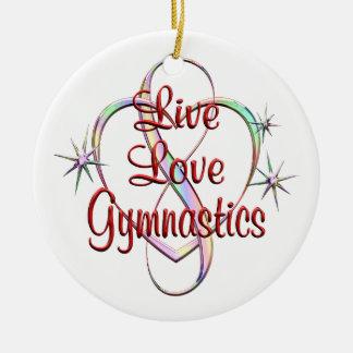 Live Love Gymnastics Ceramic Ornament
