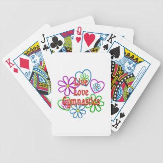 Live Love Gymnastics Poker Deck