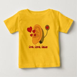 Live, Love, Hear Baby T Baby T-Shirt