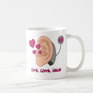 Live, Love, Hear Mug