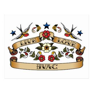 Live Love HVAC Postcard