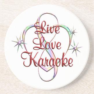 Live Love Karaoke Drink Coaster