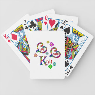 Live Love Knit Bicycle Playing Cards