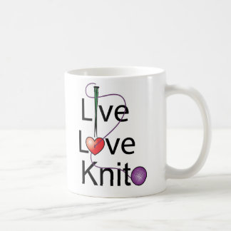 Live Love Knit Coffee Mug