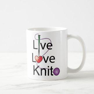 Live Love Knit Coffee Mug