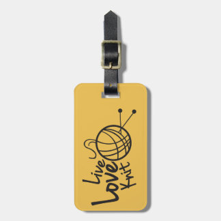 Live Love Knit | Knitting Luggage Tag